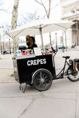 Photo of Crepe Stand in Paris, France in front of the Arc De Triumphe